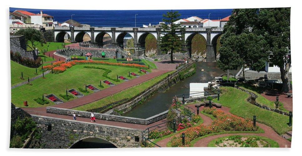 Park Bath Towel featuring the photograph The Gardens Of Ribeira Grande by Gaspar Avila