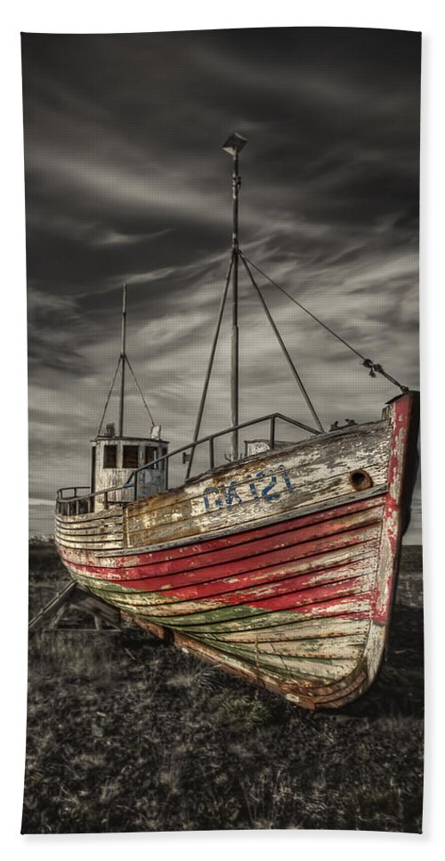 Boat Bath Towel featuring the photograph The Ghost Ship by Evelina Kremsdorf