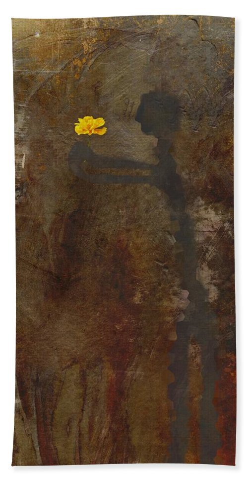 Abstract Hand Towel featuring the painting The Gift by David Dehner