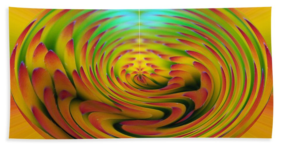 Abstracts Bath Sheet featuring the digital art The Globe by Ernie Echols