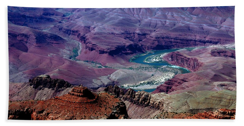 Photography Bath Sheet featuring the photograph The Grand Canyon by Susanne Van Hulst