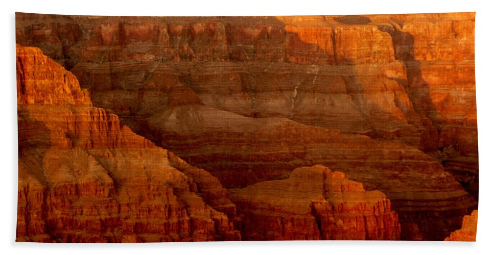 Grand Canyon Bath Sheet featuring the photograph The Grand Canyon West Rim by Angela L Walker