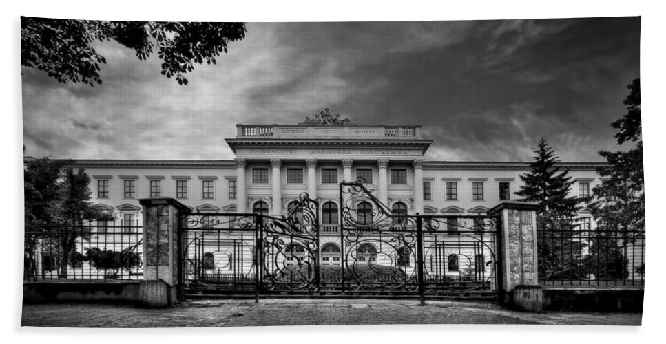 Gate Hand Towel featuring the photograph The Grand Entrance by Evelina Kremsdorf