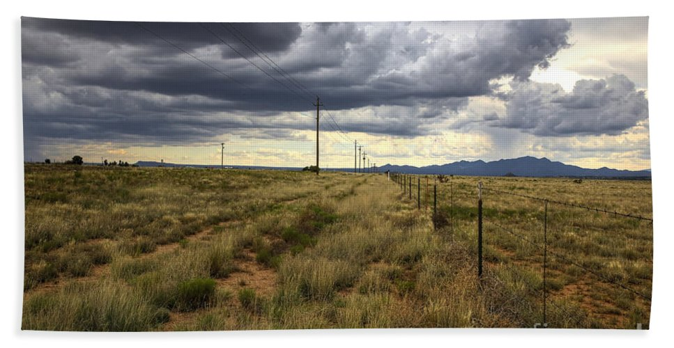 Photographs Bath Sheet featuring the photograph The Great Plains Of New Mexico by Felix Lai