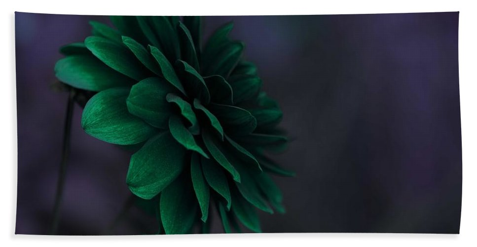 Beautiful Bath Sheet featuring the painting The Green Flower 2 by Celestial Images