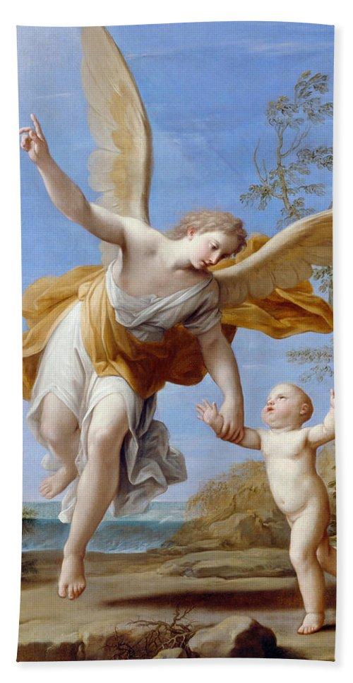 The Guardian Angel Hand Towel For Sale By Marcantonio Franceschini