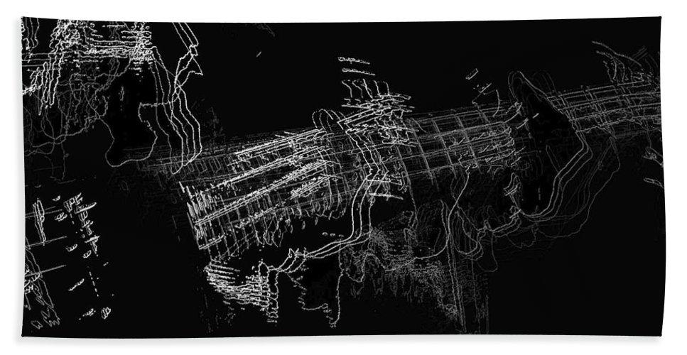 Art Digital Art Hand Towel featuring the digital art The Guitar Man by Alex Porter