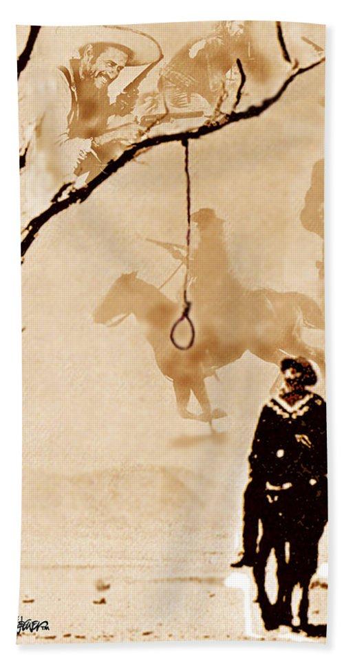 Clint Eastwood Bath Sheet featuring the digital art The Hangman's Tree by Seth Weaver