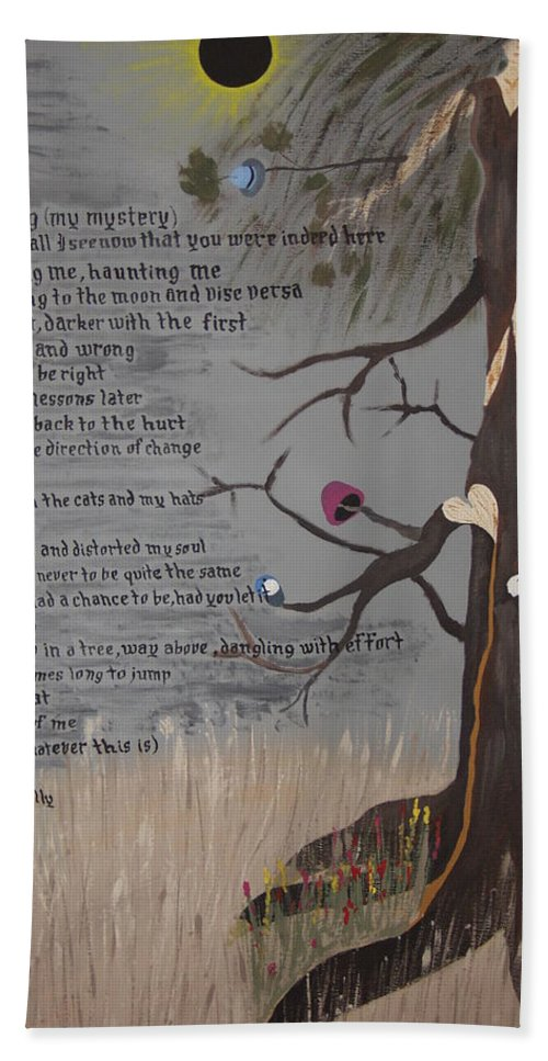 Poetry Hand Towel featuring the painting The Haunting by Dean Stephens