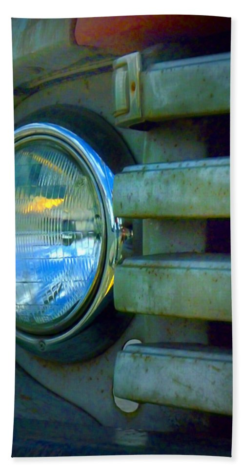 Car Hand Towel featuring the photograph The Headlight by Tara Turner