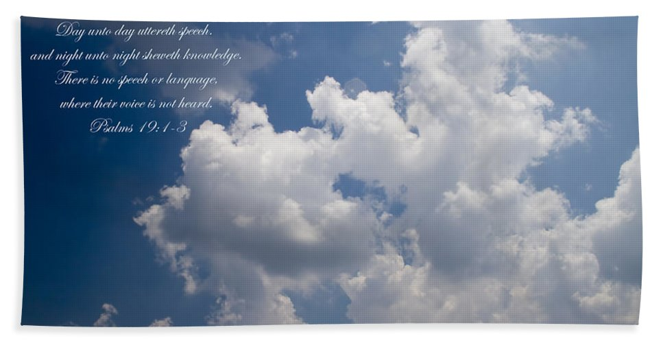 Psalms Bath Sheet featuring the photograph The Heavens Declare The Glory Of God by Kathy Clark
