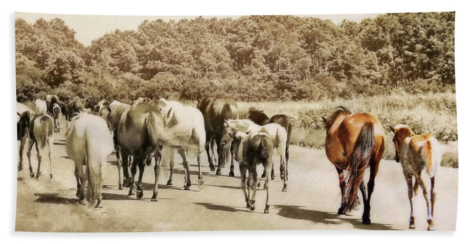 Horse Bath Sheet featuring the photograph The Herd by JAMART Photography