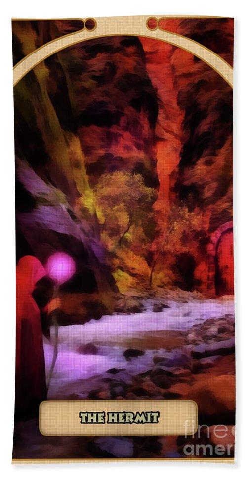 Magic Bath Sheet featuring the digital art The Hermit by John Edwards
