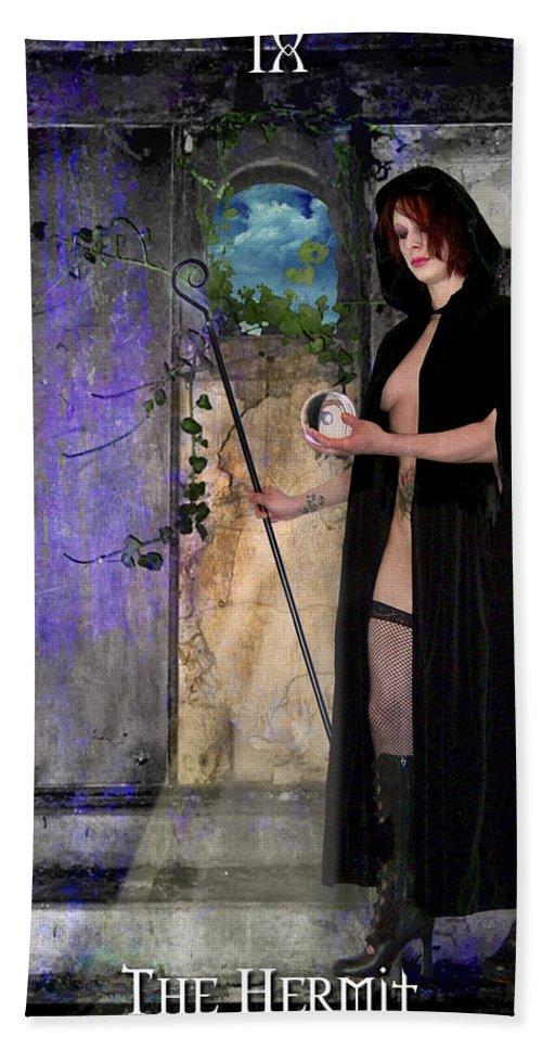 Divine Hand Towel featuring the digital art The Hermit by Tammy Wetzel