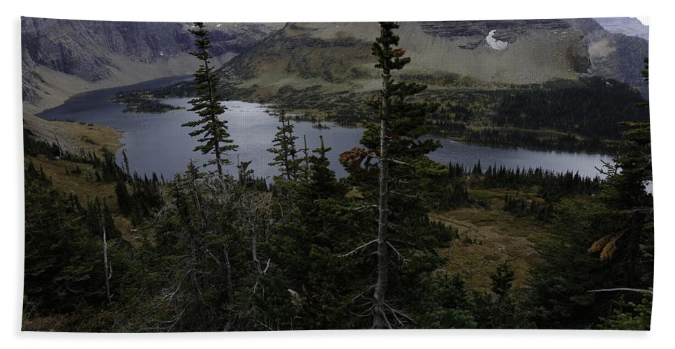 Wyoming Hand Towel featuring the photograph The Hidden Lake by Michael J Samuels