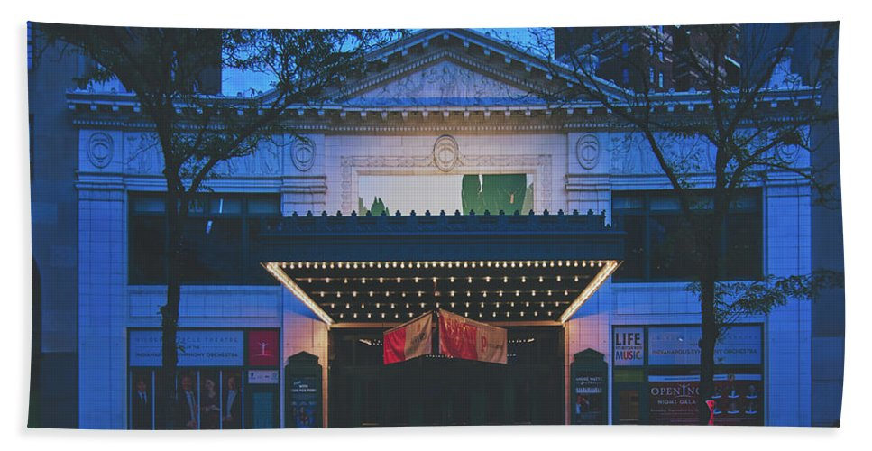 Hilbert Circle Theatre Hand Towel featuring the photograph The Hilbert Circle Theatre Of Indianapolis by Library Of Congress