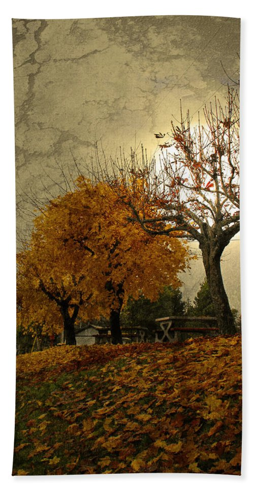 Autumn Hand Towel featuring the photograph The Holder Of Light by Tara Turner