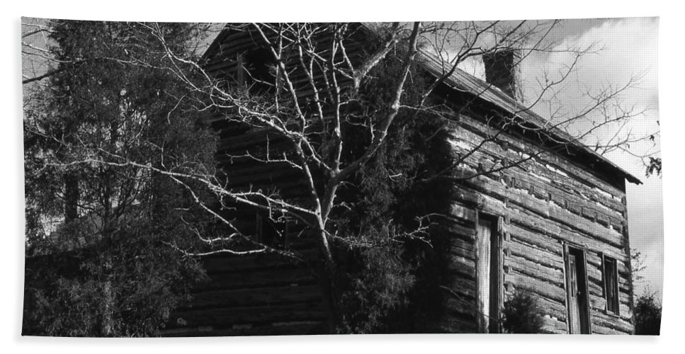 Cabins Bath Sheet featuring the photograph The Homestead by Richard Rizzo