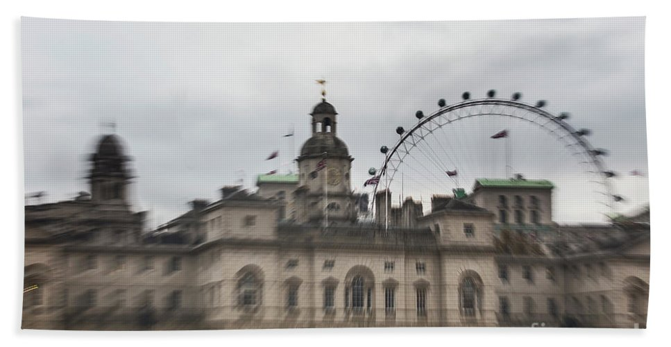 The Household Cavalry Museum Hand Towel featuring the photograph The Household Cavalry Museum Abstract London Abstract by Alex Art and Photo