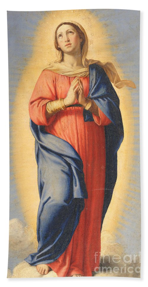 Mary Bath Sheet featuring the painting The Immaculate Conception by Il Sassoferrato