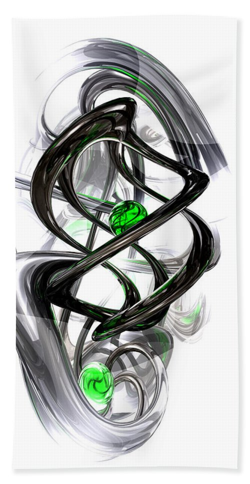 3d Hand Towel featuring the digital art The Inkwell Abstract by Alexander Butler