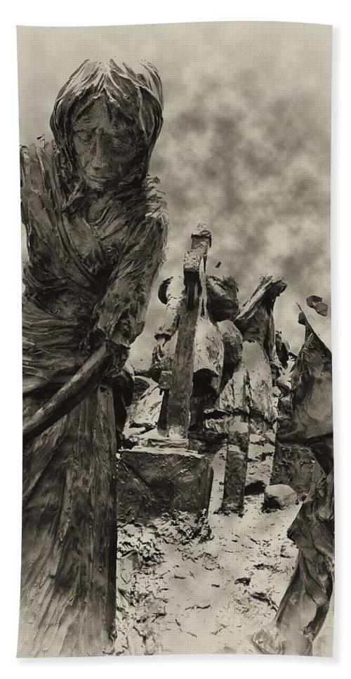 Philadelphia Bath Sheet featuring the photograph The Irish Famine by Bill Cannon