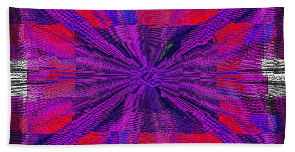 Abstract Bath Sheet featuring the digital art The Irony Of It All by Tim Allen