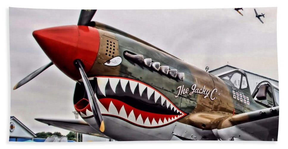Warplane Hand Towel featuring the photograph The Jacky C by DJ Florek