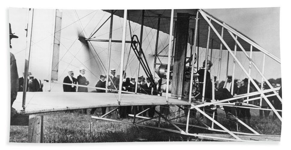1903 Bath Sheet featuring the photograph The Langley Airplane by Granger