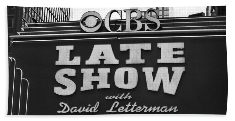 Sign Bath Sheet featuring the digital art The Late Show by Mary Pille