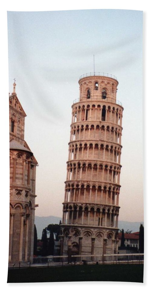 Leaning Tower Of Pisa Hand Towel featuring the photograph The Leaning Tower Of Pisa by Marna Edwards Flavell
