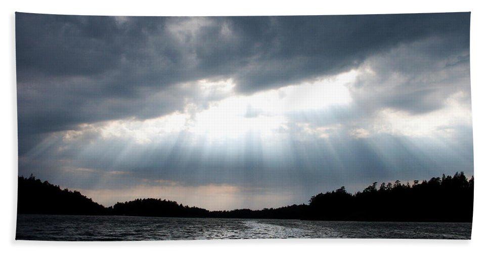 Lehtokukka Hand Towel featuring the photograph The Light by Jouko Lehto