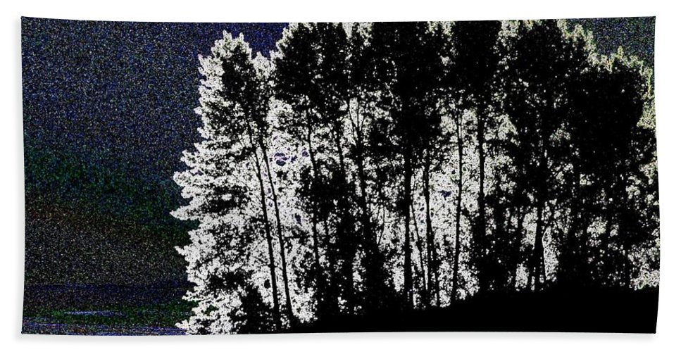 Moon Hand Towel featuring the digital art The Light Of The Moon by Will Borden