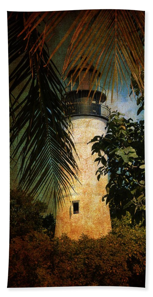 Lighthouse Hand Towel featuring the photograph The Lighthouse in Key West by Susanne Van Hulst