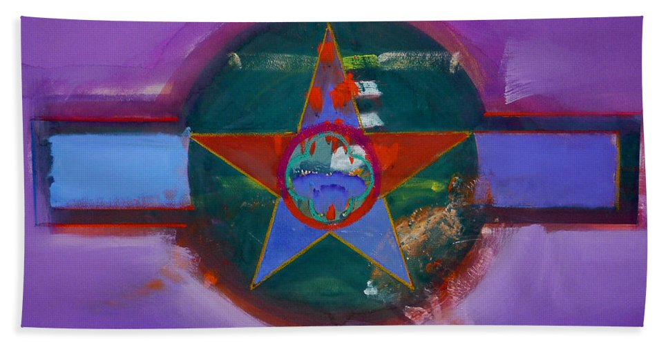 Star Hand Towel featuring the painting The Lighthouse Keeper by Charles Stuart