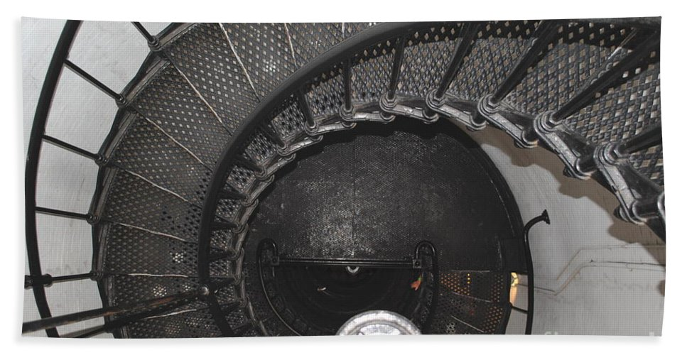 Lighthouse Bath Sheet featuring the photograph The Lighthouse Stairs by Jost Houk