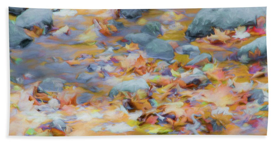 Abstracts Bath Towel featuring the photograph The Lightness of Autumn by Marilyn Cornwell