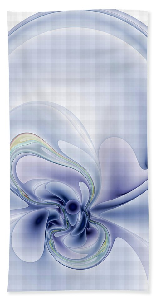 Abstract Hand Towel featuring the digital art The Liquidity Of Thought by Casey Kotas