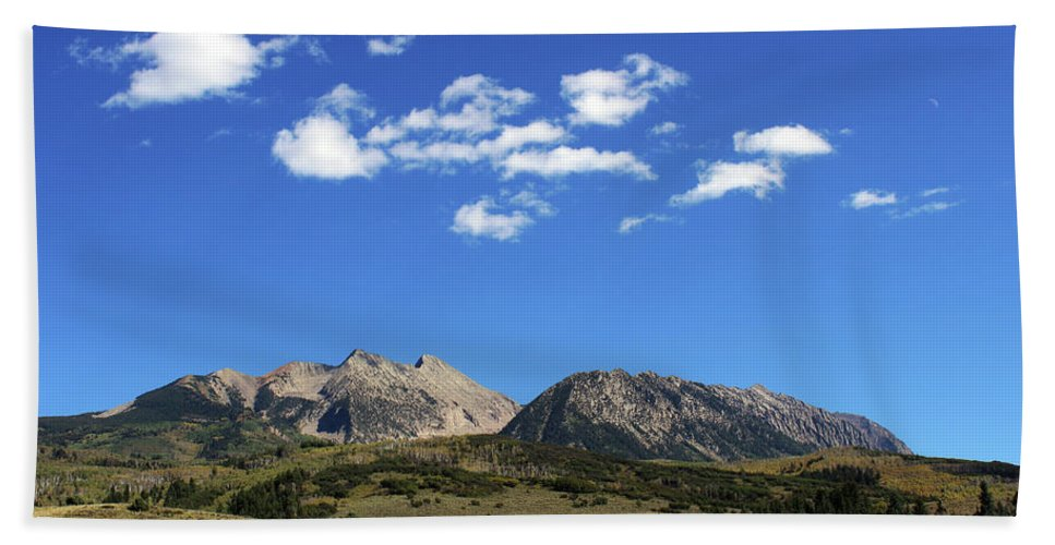 Mountains Bath Sheet featuring the photograph The Lonely Mountains by Samantha Burrow