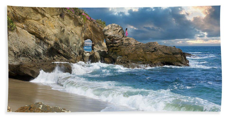 Ocean Hand Towel featuring the photograph The Look Of Love by Acropolis De Versailles