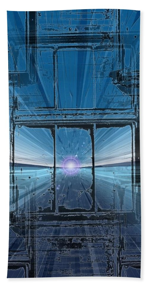 Bath Sheet featuring the digital art The Looking Glass by Tim Allen