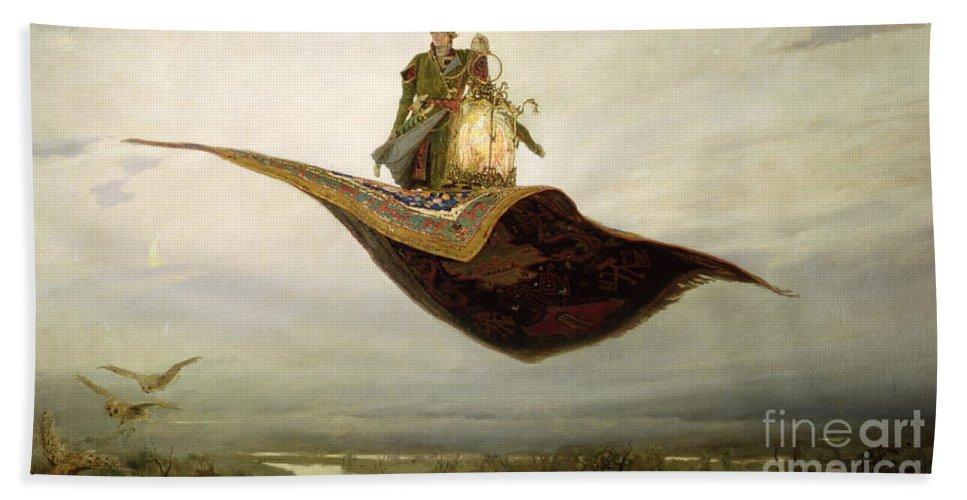 Magical Hand Towel featuring the painting The Magic Carpet by Apollinari Mikhailovich Vasnetsov