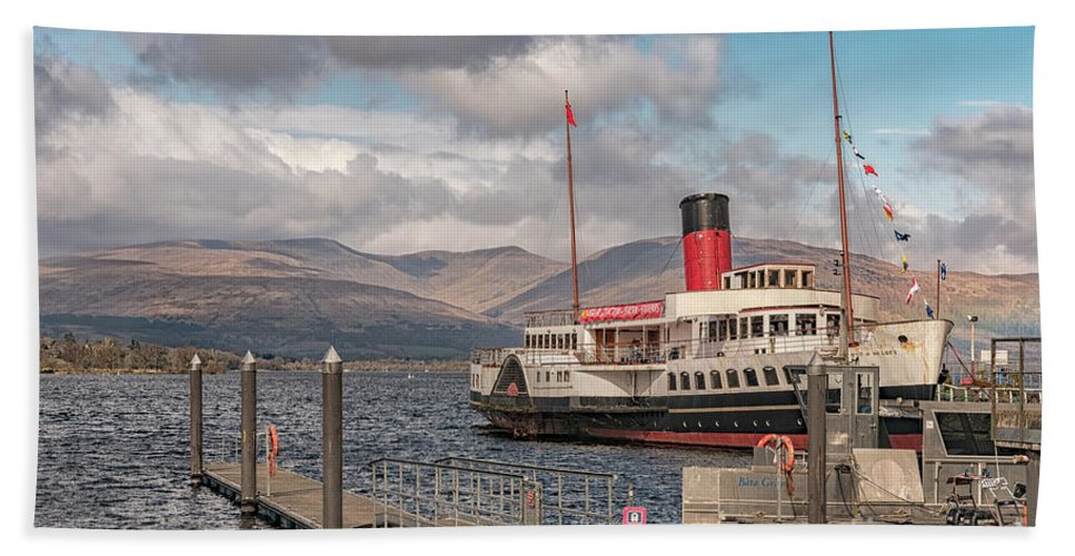 Boat Hand Towel featuring the photograph The Maid Of The Loch by Antony McAulay