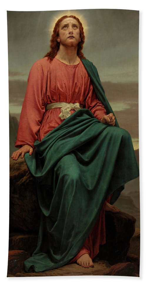 Sir Joseph Noel Paton Hand Towel featuring the painting The Man Of Sorrows by Joseph Noel Paton