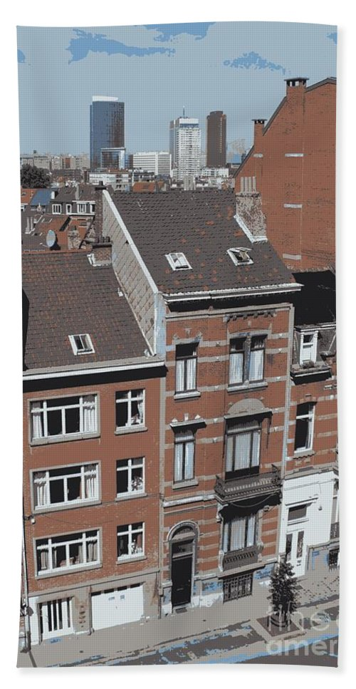 Brussels Bath Towel featuring the photograph The Many Layers Of Brussels by Carol Groenen