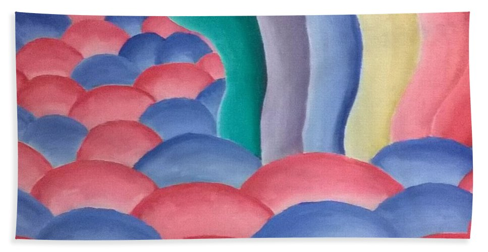 Abstract Bath Sheet featuring the painting The March by Matthew Early