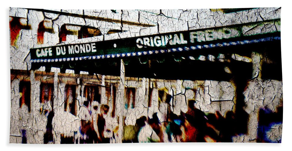 Cafe Du Monde Hand Towel featuring the photograph The Market by Scott Pellegrin