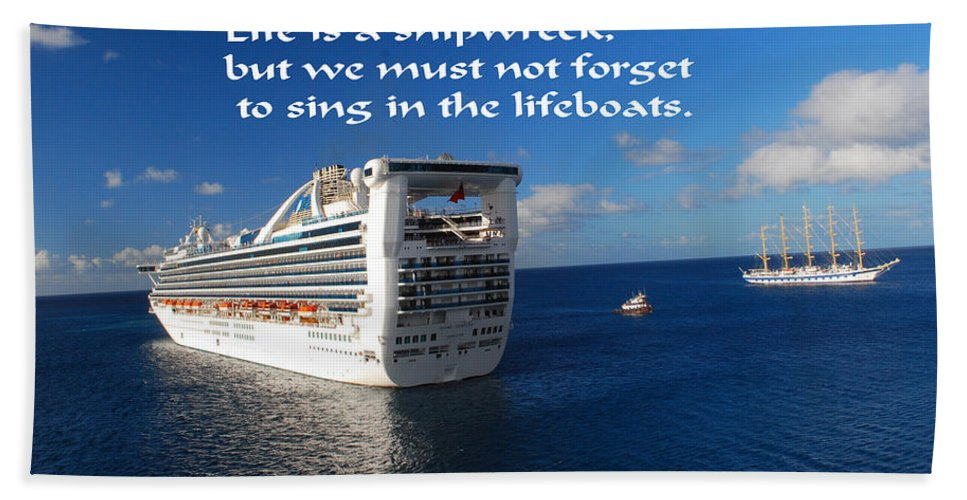Ship Bath Towel featuring the photograph The Meaning Of Life by Gary Wonning