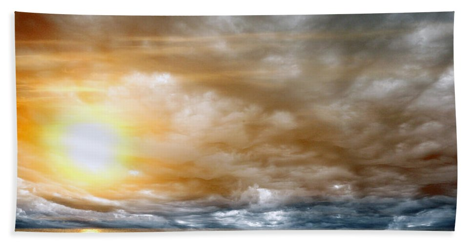 Sun Hand Towel featuring the photograph The Meeting by Munir Alawi