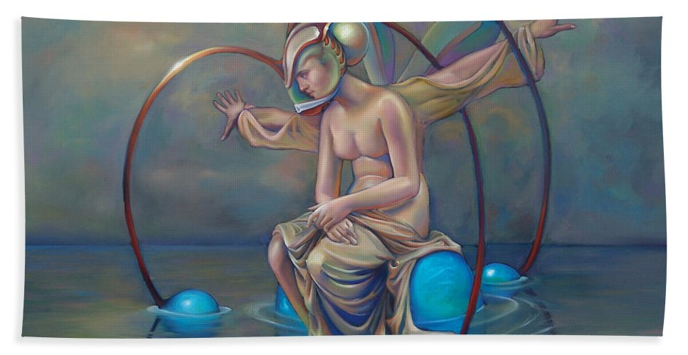 Earth Bath Sheet featuring the painting The Metamorphosis Of Gaia by Patrick Anthony Pierson